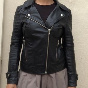 ASOS Genuine leather motorcycle jacket sz 0